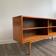 Load image into Gallery viewer, Vintage Teak Bookshelf / Curio Cabinet