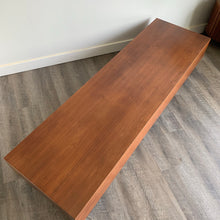 Load image into Gallery viewer, Vintage Teak Platform Coffee Table/ Bench