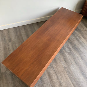 Vintage Teak Platform Coffee Table/ Bench