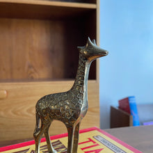 Load image into Gallery viewer, Brass Giraffe Figurine