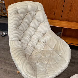 Mid Century Modern Swivel Egg Chair with Ottoman by Doerner
