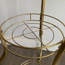 Load image into Gallery viewer, Vintage Brass Three Tiered Plant Stand
