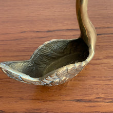 Load image into Gallery viewer, Vintage Brass Swan Trinket Holder/Planter