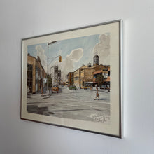 "Load image into Gallery viewer, Vintage Ben Babelowsky ""Mainstreet-Lift bridge Wellond Ontario"" Print"