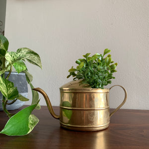 Vintage Brass Watering Can Planter