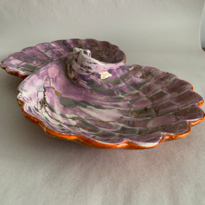 Vintage Double Shell Ceramic Dish