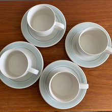 Load image into Gallery viewer, Set of 4 Vintage Japanese Stoneware Mugs and Saucers