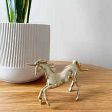 Load image into Gallery viewer, Vintage Brass Unicorn Figurine