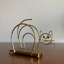 Load image into Gallery viewer, Vintage Brass Cat Napkin/Letter Holder