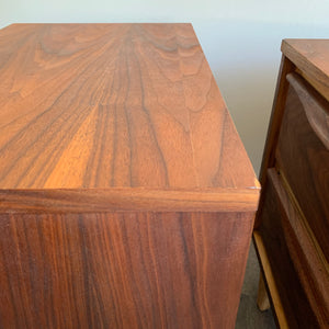 Pair of Walnut Nightstand Tables