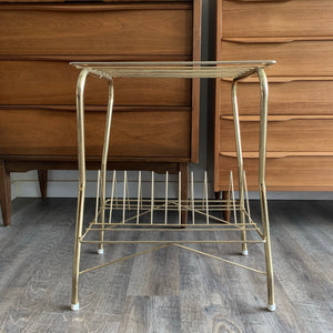 Vintage Brass Record Stand