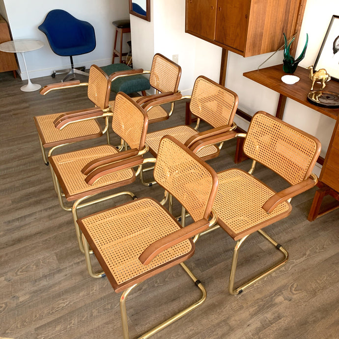 Vintage Cesca Arm chairs By Marcel Breuer (70s) *Price is per chair