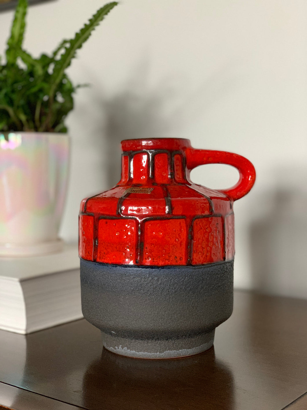West Germany - Tönnieshof Carsten Fat Lava Ceramic Vase