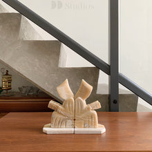 Load image into Gallery viewer, Vintage Alabaster Monk Bookends
