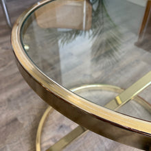 Load image into Gallery viewer, Vintage Brass Z-Shaped Side Table