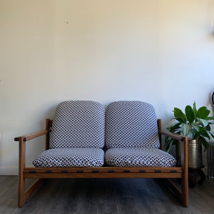 RS Associates Teak Love-seat Sofa