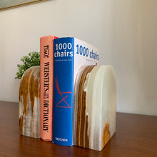 Load image into Gallery viewer, Vintage Alabaster Bookends