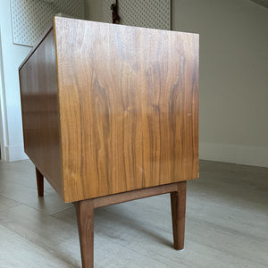 Vintage Walnut Bar Cabinet