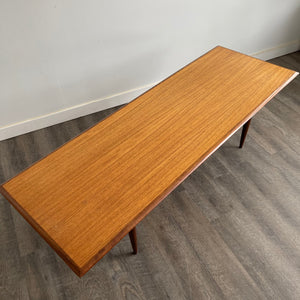 Vintage Teak Coffee Table with Under - shelf