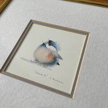Load image into Gallery viewer, Solo II by Val Pfeiffer Baby Bird Watercolour Matted and Framed