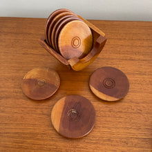 Load image into Gallery viewer, Set of 8 Wooden Coasters