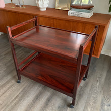 Load image into Gallery viewer, Mid Century Modern Rosewood Bar Cart