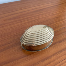 Load image into Gallery viewer, Vintage Solid Brass Shell Trinket Box