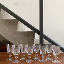 Load image into Gallery viewer, Set of 8 Pinwheel Crystal Glasses