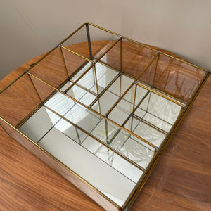 Vintage Glass and Brass Curio Cabinet