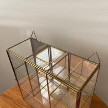 Load image into Gallery viewer, Vintage Glass and Brass Curio Cabinet