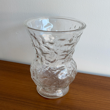 Load image into Gallery viewer, Vintage Crinkle Glass Vase
