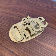 "Load image into Gallery viewer, Vintage Brass ""At Once"" Paper Clip"