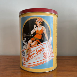 Vintage Crackerjack Tin Container