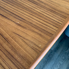 Load image into Gallery viewer, Surfboard Teak Dining Table with Two Leaves