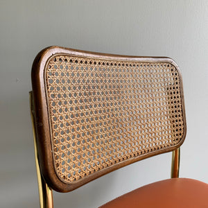 Vintage Cantilever Cane Chair