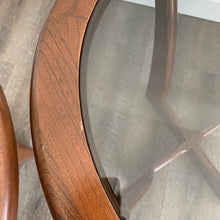 Load image into Gallery viewer, Vintage Round Walnut Side Tables