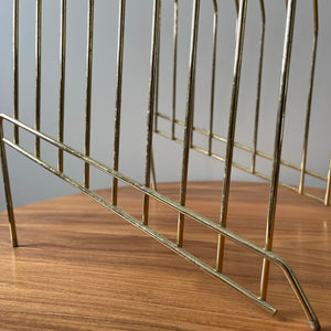 Vintage Brass File/Vinyl Holder