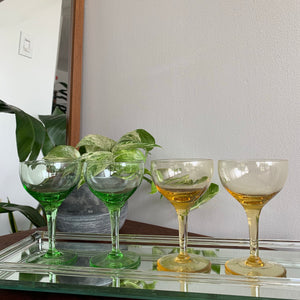 Set of 4 Vintage Coupe Glasses
