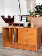 Load image into Gallery viewer, Mid Century Modern Teak Vinyl Record Cabinet
