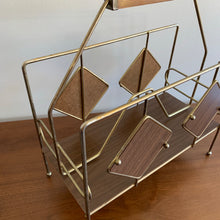 Load image into Gallery viewer, Vintage Mid Century Modern Atomic Magazine Rack