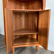 Load image into Gallery viewer, Vintage Teak Corner Cabinet