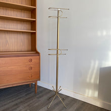 Load image into Gallery viewer, Vintage MCM Brass Towel Rack