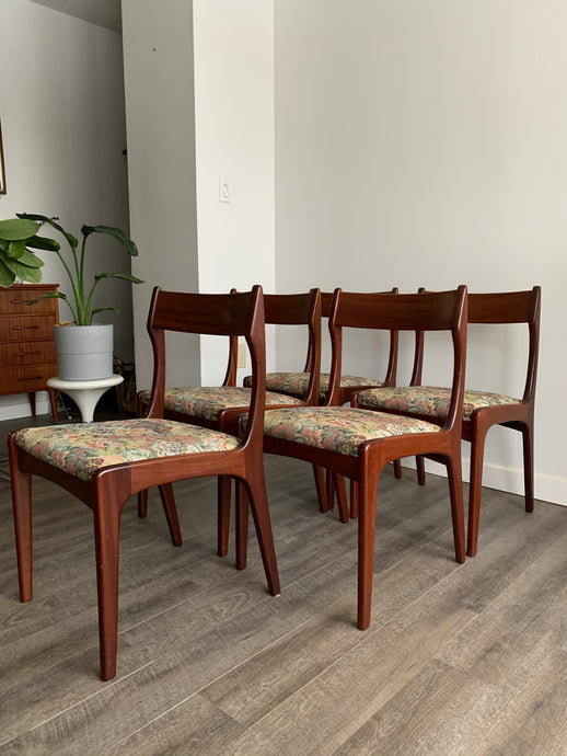 Set of 5 Teak Dining Chairs by R.Huber