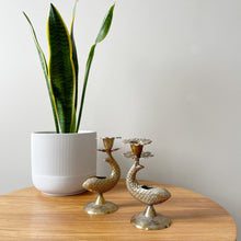 Load image into Gallery viewer, Pair of Vintage Brass Fish Candle Holders