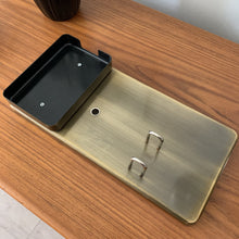 Load image into Gallery viewer, Vintage Brushed Brass Desk Accessory by Smokador for Knoll
