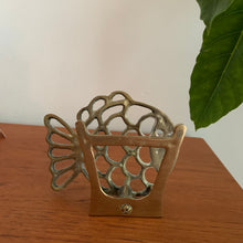 Load image into Gallery viewer, Vintage Brass Fish Letter/Napkin Holder