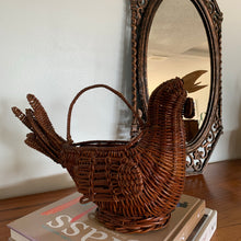 Load image into Gallery viewer, Vintage Wicker Rooster Basket