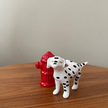 Load image into Gallery viewer, Vintage Ceramic Dalmatian and Fire Hydrant Salt and Pepper Shakers