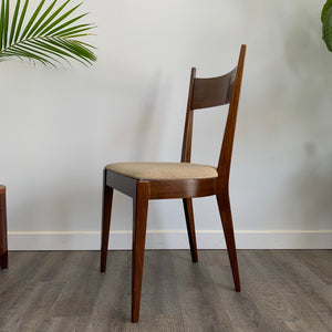 Mid Century Modern Walnut Chair By Kaufman