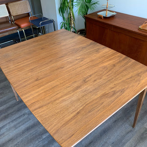 Vintage Walnut Extendable Dining Table